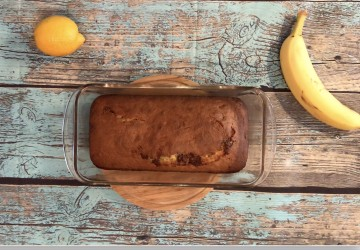 Gâteau banane et chocolat