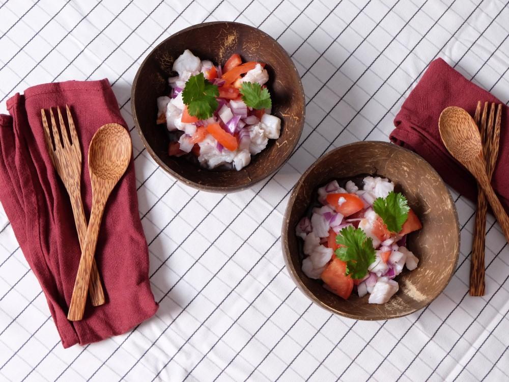 Ceviche de poisson blanc au pamplemousse