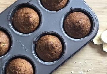 Muffins aux bananes et flocons d'avoine